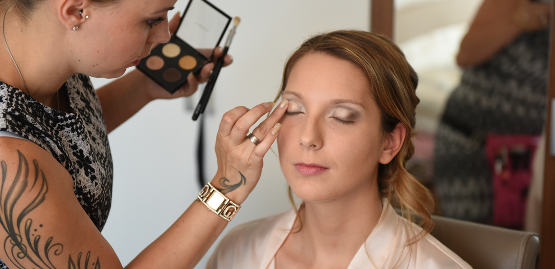 Brautfrisur Make-Up Stylistin   Franziska Bleher